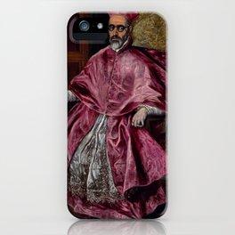 """El Greco (Domenikos Theotokopoulos) """"Cardinal Fernando Niño de Guevara"""" iPhone Case"""