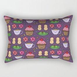 Food Fight Rectangular Pillow
