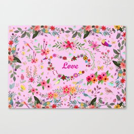 Say I love you with flowers Canvas Print
