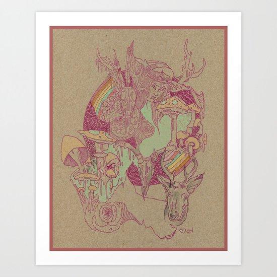 plum Art Print