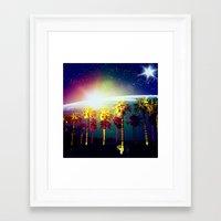 coachella Framed Art Prints featuring Coachella Palms by Jason Chase