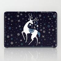 reindeer iPad Cases featuring reindeer by Anita Molnár Anita