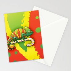 Christmas Chameleon Stationery Cards