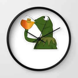 Sipping Sips Drinking Tea - Sips Fact Wall Clock