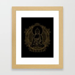 Buddha on Black Framed Art Print