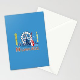 flag of Milwaukee Stationery Cards