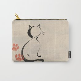 Cat Looking Forward Carry-All Pouch