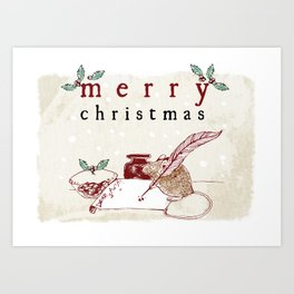 Dear Santa Christmas Card Art Print