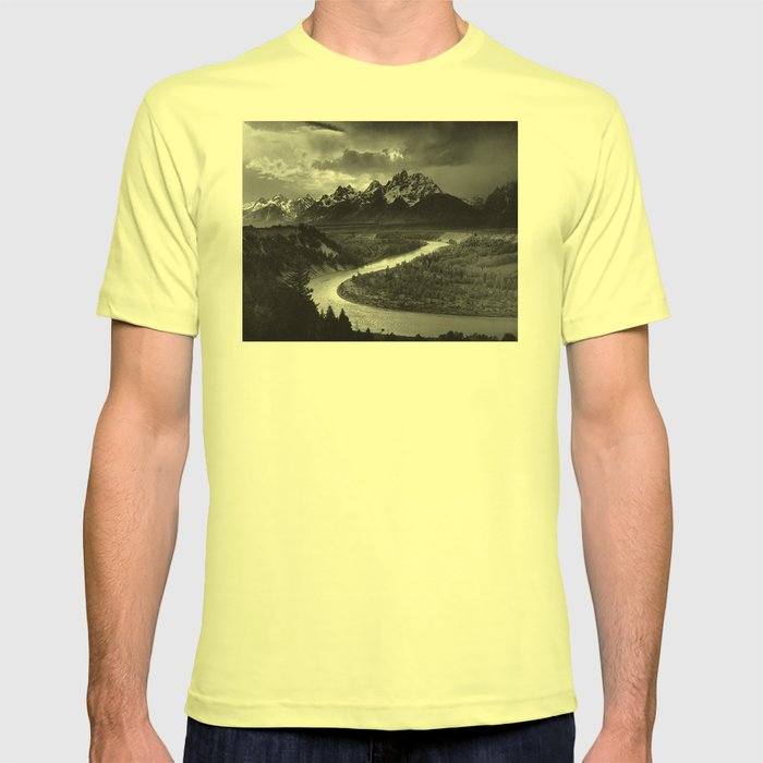 Ansel Adams - The Tetons and Snake River T-shirt by constantchaos ...