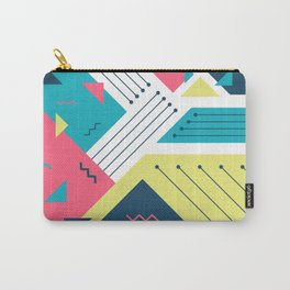 Geometric Memphis Carry-All Pouch