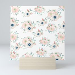 Dog Rose Pattern 2 Mini Art Print