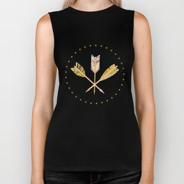aztec arrows Biker Tank