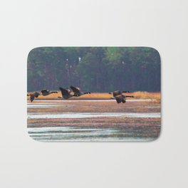 Flying Canadian Geese Bath Mat