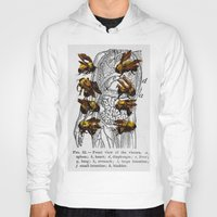 bees Hoodies featuring bees by Ashley Moye