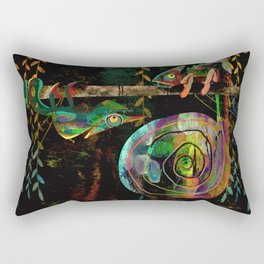 Colorful Chameleons Rectangular Pillow