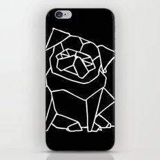 Origami Pug iPhone & iPod Skin