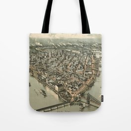 Vintage Pictorial Map of Pittsburgh (1902) Tote Bag