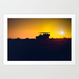 Morning African Safari Art Print