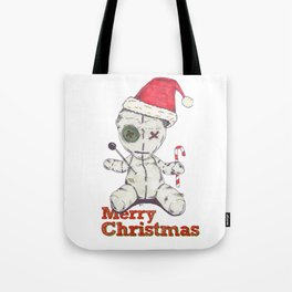 Merry Christmas Voodoo Doll Tote Bag
