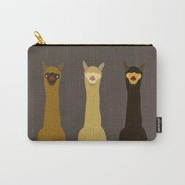 Triple LLAMAS ALPACAS CAMELS - Dark Carry-All Pouch