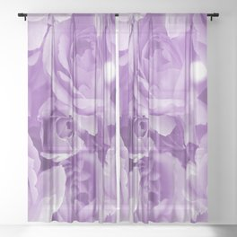 Violet Rose Bouquet For You - Valentine's Day #decor #society6 #homedecor Sheer Curtain