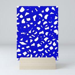 Electric Blue Abstract Mini Art Print