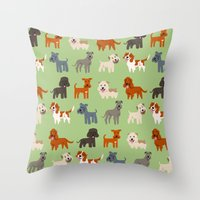 irish Throw Pillows featuring IRISH DOGS by Doggie Drawings