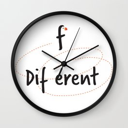 Different - nothing is as it seems Wall Clock