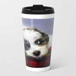 Sleepy pup Metal Travel Mug