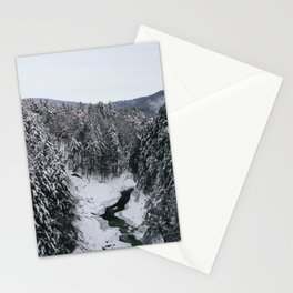 Winter in Quechee Gorge, VT Stationery Cards