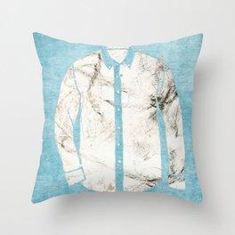 Blue Tshirt Throw Pillow