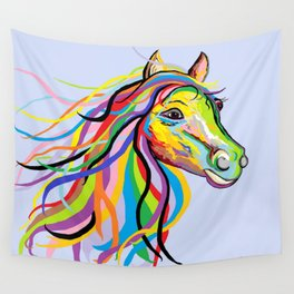 Horse of a Different Color Wall Tapestry