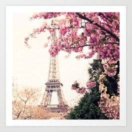 Paris in April, April in Paris Art Print