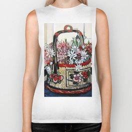 """""""Basket of Flannel Flowers"""" by Margaret Preston Biker Tank"""
