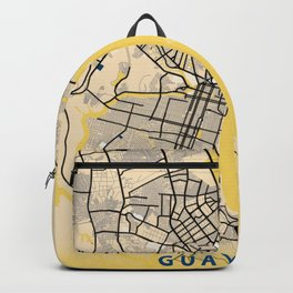 Guayaquil Yellow City Map Backpack