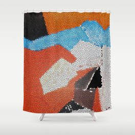 Cubist Mosaic Shower Curtain