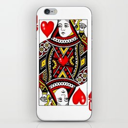 QUEEN  OF HEARTS SUIT CASINO PLAYING FACE CARD iPhone Skin