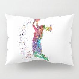 Basketball Girl Player Sports Art Print Pillow Sham