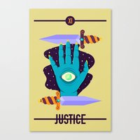 justice Canvas Prints featuring JUSTICE by badOdds