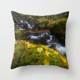 Dividing the Forest Throw Pillow