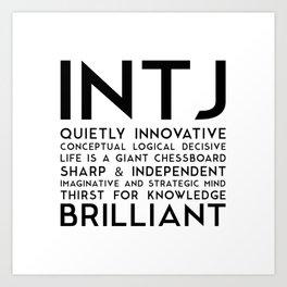INTJ Art Print