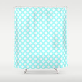 DOTS AQUA Shower Curtain