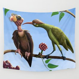 Whimsical  birds Wall Tapestry