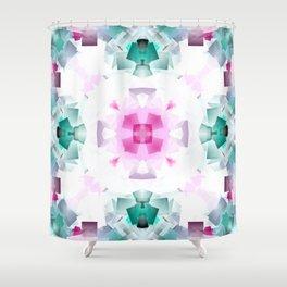 Pastel Cube Mandala Shower Curtain