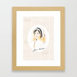 Portrait of a lady writer - Jane Austen Framed Art Print