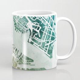 Boston Massachusetts Street Map Coffee Mug