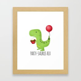 Party-Saurus Rex Framed Art Print