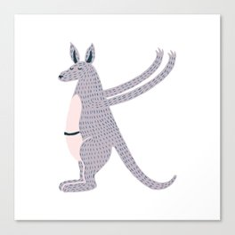 K is for Kangaroo Canvas Print