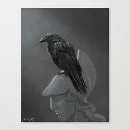 Upon Pallas' Bust Canvas Print
