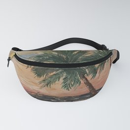 Beach Side  Oil on Canvas Fanny Pack